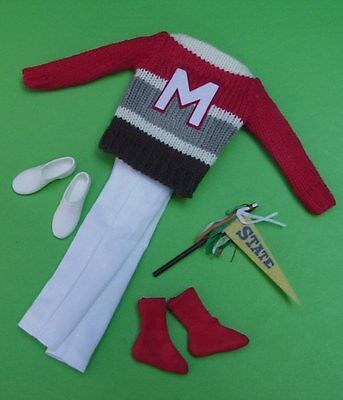 LAST 2!  CAMPUS HERO #770 KEN Outfit VINTAGE Barbie CASUAL SWEATER  OUTFIT Repro