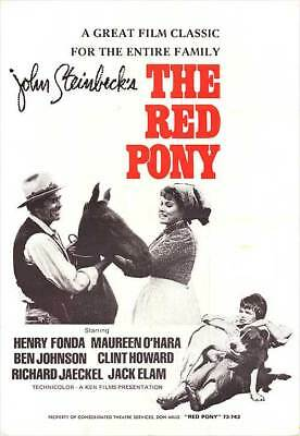 THE RED PONY original movie poster MAUREEN O'HARA/HENRY FONDA/CLINT HOWARD