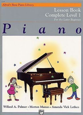 Alfred's Basic Piano Library Course Lesson Complete Level 1 Book *NEW* Music