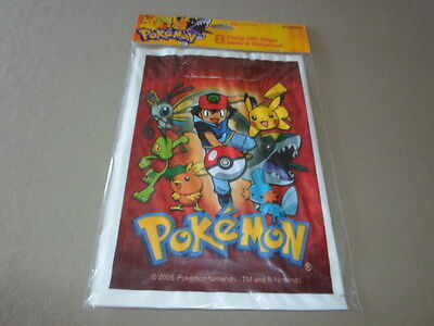 Pack Of 8 Pokemon Party Gift Bags By American Greetings Corp, NEW IN PACKAGE!