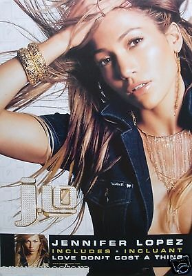 "Jennifer Lopez ""j.lo-Incl. Love Don't Cost A Thing"" 2-Sided Canada Promo Poster"