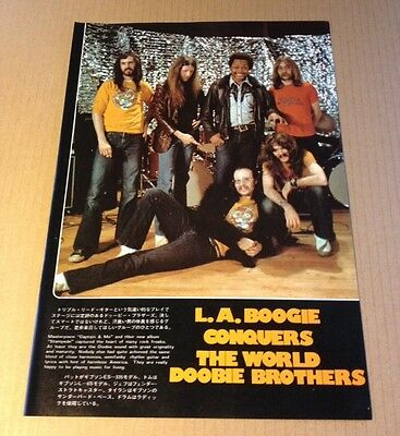 1976 The Doobie Brothers JAPAN mag photo pinup mini poster / clipping d12mi
