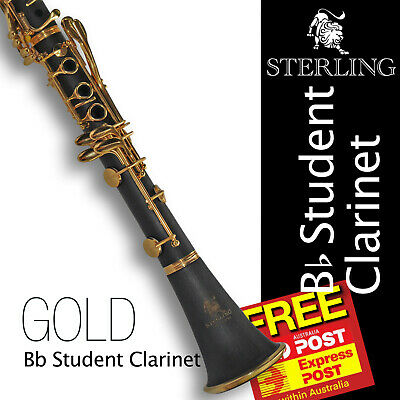Eb SOPRANINO Black and 24K Gold Clarinet • Boehm 17 keys  • BRAND NEW • Case •