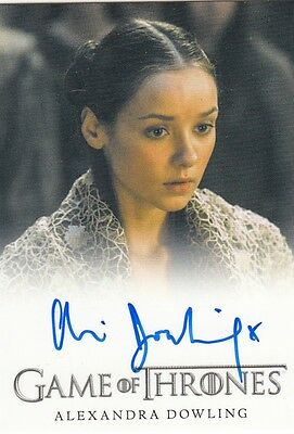 Game Of Thrones Season 4 - Alexandra Dowling (Roslin Frey) Full Bleed Autograph
