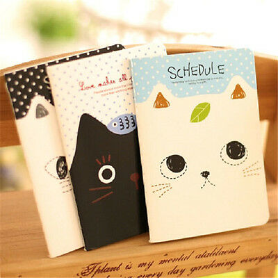 FD2420 Sweet Cat Notepad Memo Paper Diary Notebook Exercise Schedule Book 1pc ☆