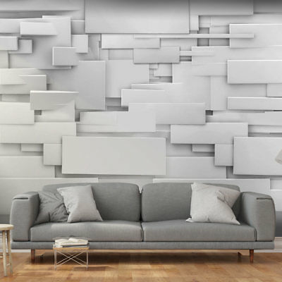Huge wall mural photo wallpaper non-woven Modern White Illusion 3D f-A-0254-a-a