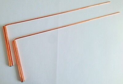 LARGE DOWSING RODS + Full Instructions For Expert Divining - Same Day Despatch