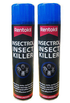 Pack of 2 x Rentokil Professional Size Insectrol Insect Killer Sprays 400ml