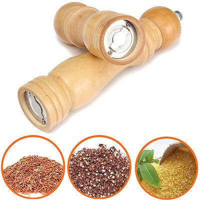 Wood Wooden Pepper Sauce Spice Salt Corn Seed Mill Grinder Muller Kitchen Tool