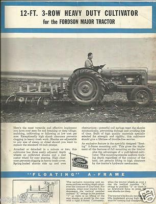 Farm Implement Brochure - Ford HD Cultivator Fordson Major Tractor c54 (F3547)
