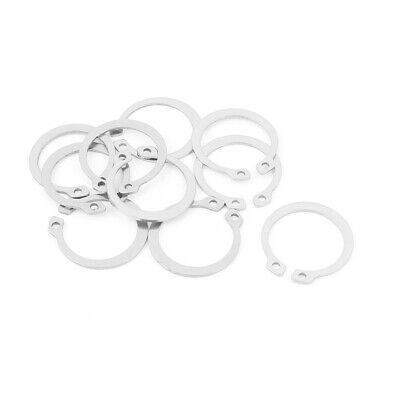 10pcs 304 Stainless Steel External Circlip Retaining Shaft Snap Rings 25mm