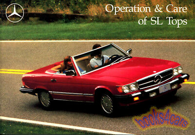 MERCEDES 107 SL Convertible Top Owners Manual Owner's Book