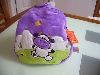 New Purple Cow Toddler Boy Girl Backpack cute school travel patrol bag paw