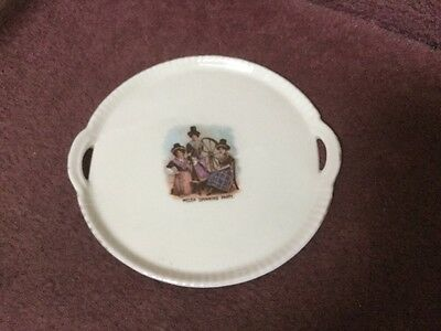 Gemma Crested Ware Tray -,Welsh Spinning Party