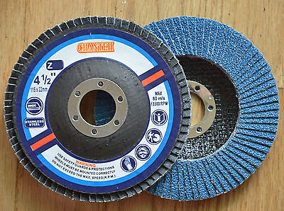 "10 New Flap Discs 4-1/2"" x 7/8"" Grinding Wheel Zirconia 120 grit"