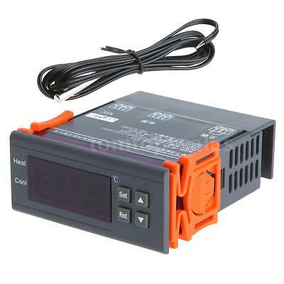 10A 220V Digital Temperature Controller Thermocouple -40℃ to 120℃ with Alarm US
