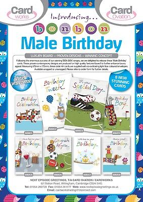 LIFESTYLE MALE RELATIONS & GENERAL B/DAY X150, JUST 25p, WRAPPED-25 DESIGNS