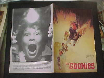 THE GOONIES, orig 12pg Austrian Film program [Sean Astin, Josh Brolin] - NFK 355