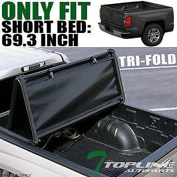 "Tri-Fold Soft Tonneau Cover 2014-2016 Chevy Silverado/gmc Sierra 5.8 Ft 68"" Bed"