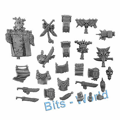 Warhammer 40K Bits: Space Wolves Long Fangs - Icons/knives/munitions