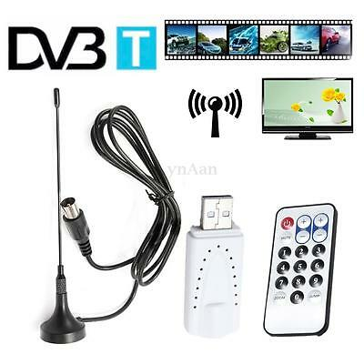 NEW USB DVB-T DONGLE STICK HDTV FREEVIEW TUNER RECEIVER FOR PC LAPTOP Win XP/8/7