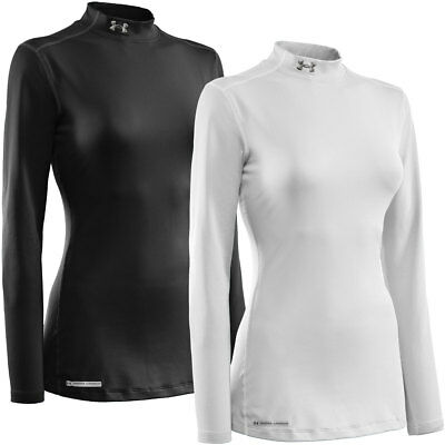 Under Armour Womens UA Armour ColdGear Fitted Mock Thermal LS Base Layer