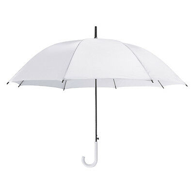 Large White Plastic Crook Handle Wedding Umbrella Bride
