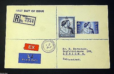GB KGVI 1948 SG493-4 Silver Wedding Registered First Day Cover - Superb