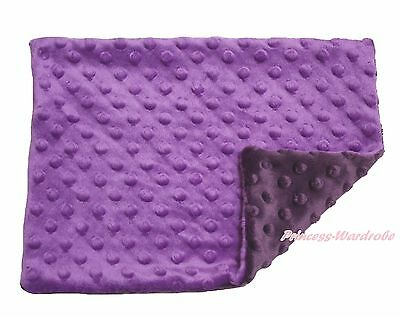 Toddler Baby Infant Newborn Purple Minky Dots Spotted Pillow Cover Pillowcase