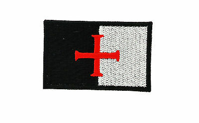 Aufnäher Aufbügler Patch backpack templer fahne flagge tempelritter crusader