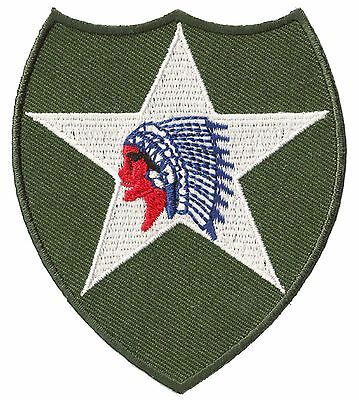 Ecusson badge patche 2nd infantry division thermocollant patch