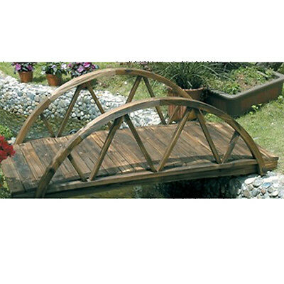 TYNE - 5 foot Ornamental Arched Garden Bridge - Burntwood ZLY-95513