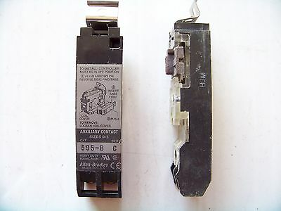 Allen Bradley #595-B Aux. Contact N/C Used 2/2/7