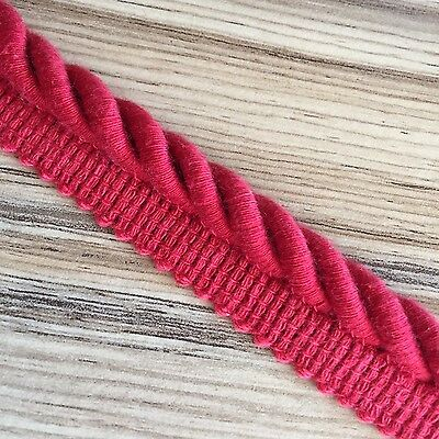 Thick Red Flanged Cord (Approx 11 Mm Cord)- Free Uk P & P