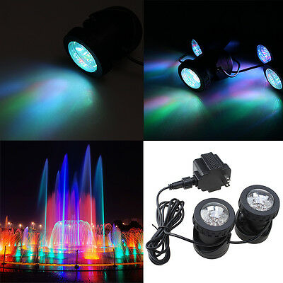 2  LED Outdoor Spot Lights for Underwater Fountain Swimming/Fish Pond Garden