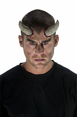 Demon Horns Off White Latex Devil Horns Adhesive Required Worlock Horns 68961