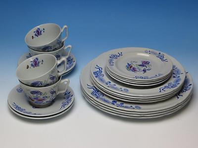 Copeland Spode China - Colorful Bude Pattern - 4 Place Settings - 20 Pieces
