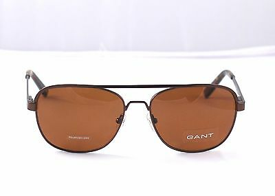 1f11f3c4b4 NEW GANT POLARIZED Sunglasses Frank 59-17-140 Brown w  Case