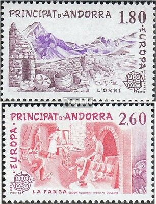 Andorra-French Post 334-335 mint never hinged mnh 1983 Europe