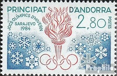 Andorra-French Post 348 mint never hinged mnh 1984 Winter Games