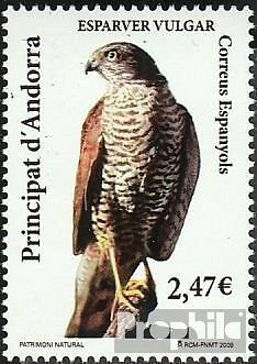 Andorra-Spanish Post 363 mint never hinged mnh 2009 Birds
