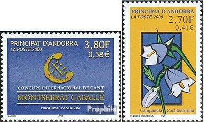 Andorra-French Post 549,550 mint never hinged mnh 2000 vocals, Plants