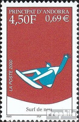 Andorra-French Post 548 mint never hinged mnh 2000 Snowboarding