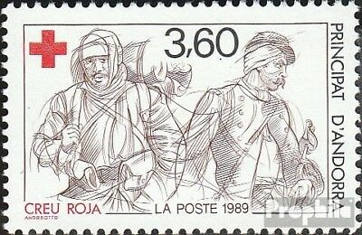 Andorra-French Post 401 mint never hinged mnh 1989 Red Cross