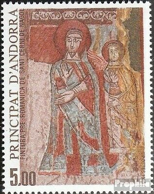 Andorra-French Post 365 mint never hinged mnh 1985 religious Art