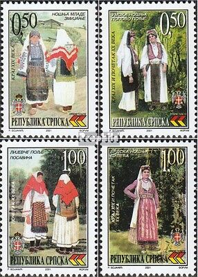 Serbian Republic bos.-h 206-209 mint never hinged mnh 2001 Costumes