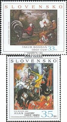 Slovakia 494-495 mint never hinged mnh 2004 Paintings