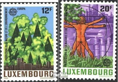 Luxembourg 1151-1152 mint never hinged mnh 1986 Nature- and Environment