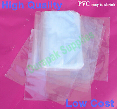 "500 pc 6X11"" Heat Shrink Film Flat Bag w/ Vent Hole CD DVD Gift Retail Packaging"