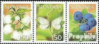 slovenia 404-406 triple strip mint never hinged mnh 2002 Locals Fruits